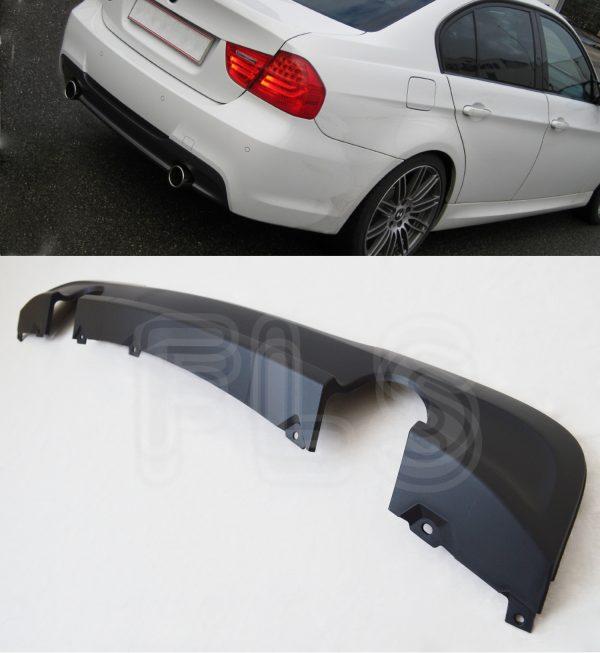 BMW E90-E91 2005 – 2012 M SPORT REAR DIFFUSER BUMPER SPLITTER VALANCE – 335 LOOK