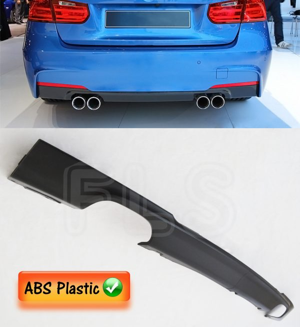 BMW 3 SERIES F30 F31 11-16 QUAD MSPORT REAR DIFFUSER SPLITTER VALANCE SPOILER