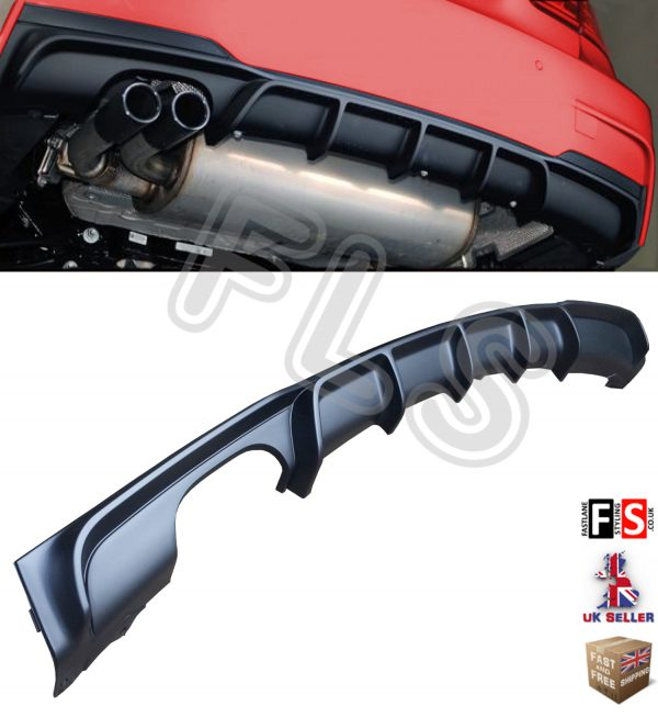 BMW 3 SERIES F30 F31 M SPORT M PERFORMANCE REAR BUMPER DIFFUSER TWIN EXHAUST