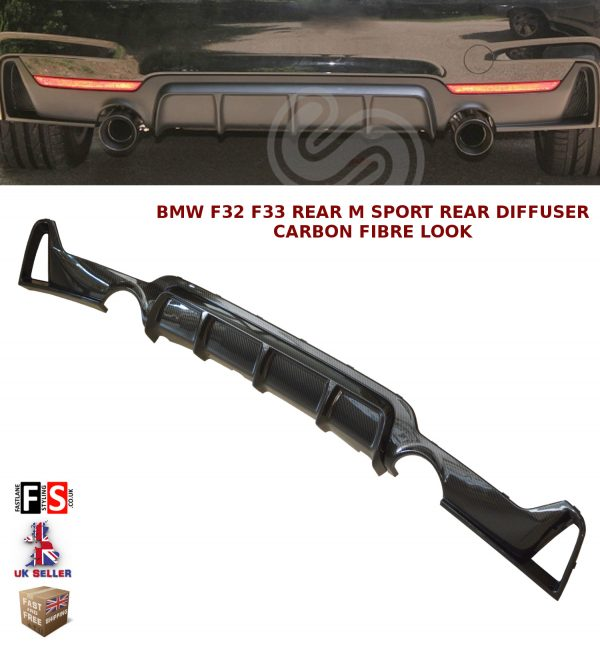 BMW 4 SERIES F32 F33 F36 M SPORT PERFORMANCE REAR DIFFUSER VALANCE CARBON FIBRE
