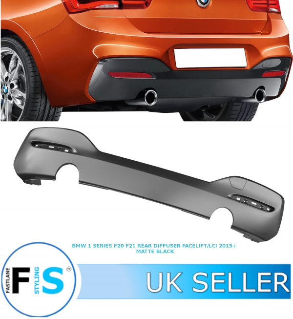 BMW 1 SERIES F20 F21 REAR DIFFUSER 15+ FACELIFT LCI