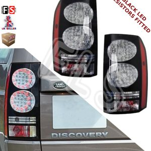 LAND ROVER DISCOVERY 3 & 4 NEW REAR BLACK LED TAIL LIGHTS (PAIR) – 2014 UPGRAE 3