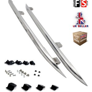 RANGE ROVER EVOQUE CHROME SIDE BARS FOR PURE+PRESTIGE MODELS 3/5 DOOR TUBE STEPS