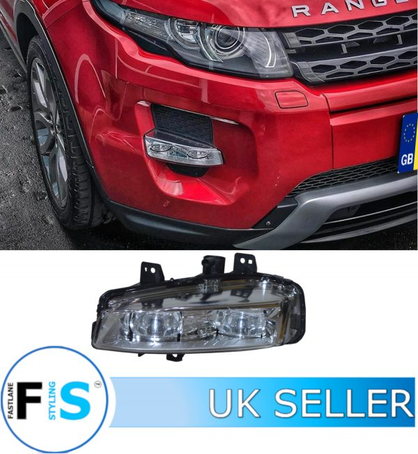 RANGE ROVER EVOQUE FRONT FOG LIGHTS LAMPS DRL