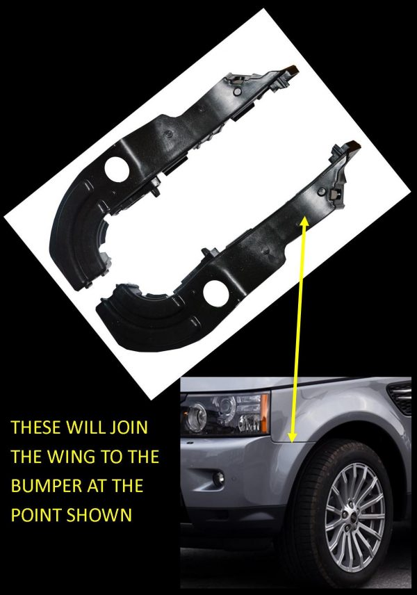 front bumper wing fender mounting brackets-Range Rover Sport Autobiography L320