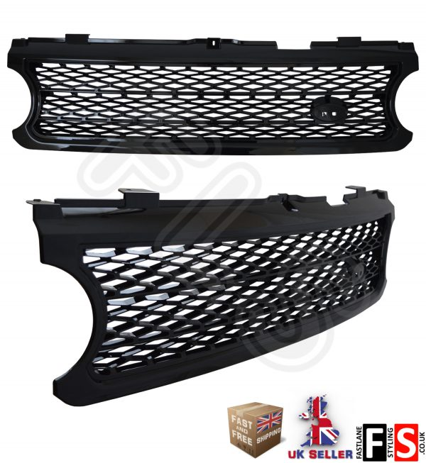 RANGE ROVER L322 VOGUE SUPERCHARGED 06-09 FRONT GRILL GRILLE – ALL BLACK