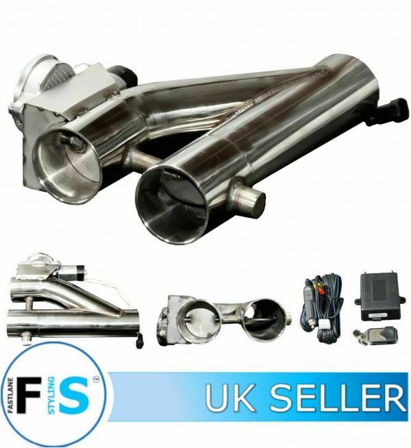 3RD GENERATION STAINLESS STEEL ELECTRONIC 2.25″ EXHAUST VALVE KIT