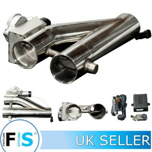 3RD GENERATION STAINLESS STEEL ELECTRONIC 2.5″ EXHAUST VALVE KIT