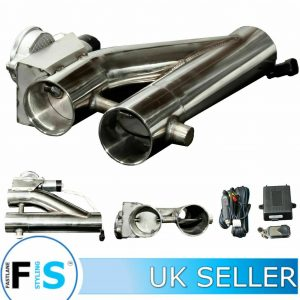 3RD GENERATION STAINLESS STEEL ELECTRONIC 3″ EXHAUST VALVE KIT