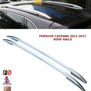 PORSCHE CAYENNE ALUMINIUM ROOF RAILS BARS ROOF RACK BARS POLISHED SILVER 11-17