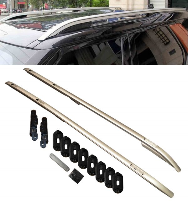 LAND ROVER DISCOVERY 5 LR5 ALUMINIUM ROOF RAILS BARS ROOF RACK BARS SILVER 2016+
