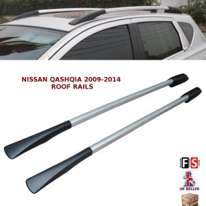 NISSAN QASHQAI ALUMINIUM DECORATIVE ROOF RAILS BARS ROOF RACK BARS SILVER 09-14
