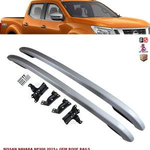 NISSAN NAVARA NP300 DOUBLE CAB ALUMINIUM ROOF RAILS BARS ROOF RACK BARS OEM FIT