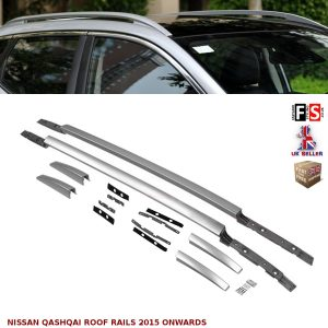 NISSAN QASHQAI ALUMINIUM ROOF RAILS BARS ROOF RACK BARS OEM FIT 2015 ONWARDS
