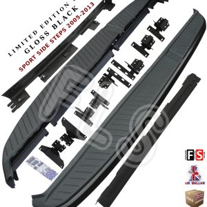 RANGE ROVER SPORT SIDE STEPS RUNNING BOARDS LIMITED EDITION GLOSS BLACK 05-13