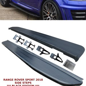 RANGE ROVER SPORT NEW L494 2018 OEM STYLE SIDE STEPS RUNNING BOARD BLACK OEM FIT