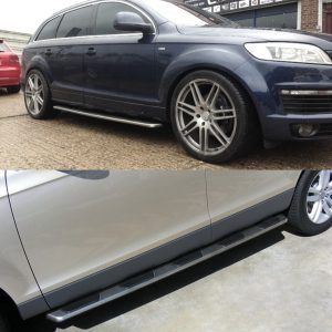 AUDI Q7 OEM FACTORY STYLE SIDE STEPS BARS RUNNING BOARDS 2006 UP – LY8040-1