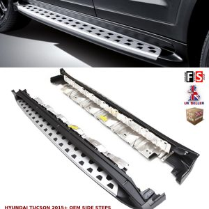 HYUNDAI TUCSON SIDE STEPS RUNNING BOARDS NEW STYLE 100% OEM FIT 2015 ONWARDS