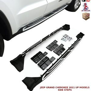 JEEP GRAND CHEROKEE SIDE STEPS RUNNING BOARDS SET NEW STYLE 100% OEM FIT 2011+