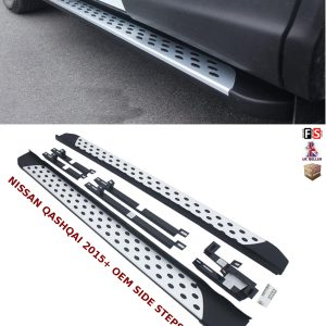NISSAN QASHQAI SIDE STEPS RUNNING BOARDS SET NEW STYLE 100% OEM FIT 2015-2018