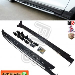 FORD KUGA SIDE STEPS RUNNING BOARDS NEW EDITION BLACK SILVER 13+ OEM FIT