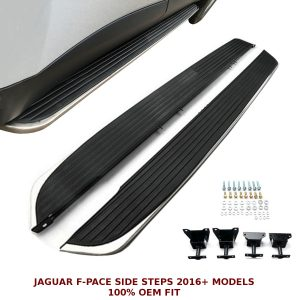 JAGUAR FPACE F-PACE SIDE STEPS RUNNING BOARDS OEM FIT 2016+ STRONG ALUMINIUM
