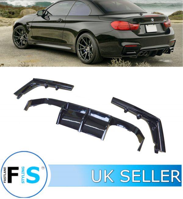 BMW 3 4 SERIES F80 F82 M3 M4 REAR DIFFUSER