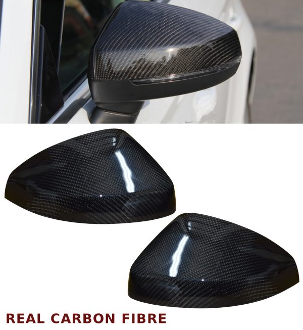 AUDI A3 S3 RS3 WING MIRROR COVER PAIR REAL CARBON FIBRE 2014-2016 OEM FIT