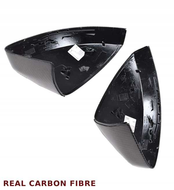 AUDI A3 S3 RS3 REPLACEMENT WING MIRROR COVER PAIR REAL CARBON FIBRE OEM FIT