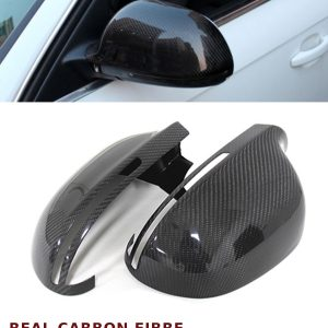 AUDI A4 B8 S4 ADD ON WING MIRROR COVER PAIR REAL CARBON FIBRE 2008-2014