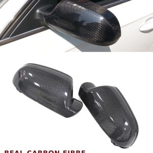 AUDI A5 S5 ADD ON WING MIRROR COVER PAIR REAL CARBON FIBRE 2010-2014