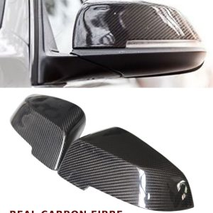 BMW 5 SERIES F10 LCI REPLACEMENT WING MIRROR COVER PAIR REAL CARBON FIBRE 14-16