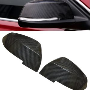 BMW 1 3 4 SERIES F20 F30 F32 WING MIRROR COVER PAIR REAL CARBON FIBRE 2012 UP