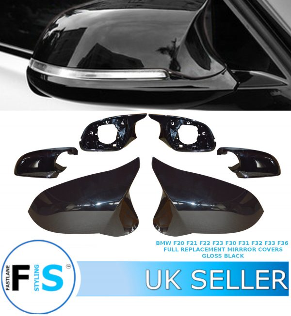 BMW F20 F21 F22 F23 F30 F31 F32 F33 F36 FULL REPLACEMENT WING MIRROR COVERS