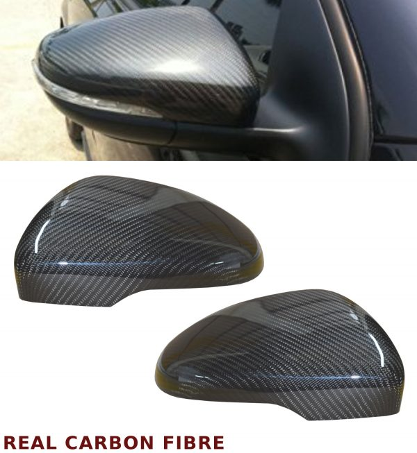 VW GOLF MK 6 GOLF TDI GOLF R WING MIRROR COVER PAIR REAL CARBON FIBRE 2008-2012