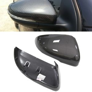 VW GOLF MK 6 GOLF REPLACEMENT WING MIRROR COVER PAIR REAL CARBON FIBRE 08-12