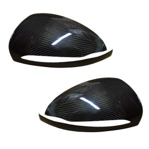 MERCEDES C CLASS W205 WING MIRROR COVER PAIR REAL CARBON FIBRE 2015+