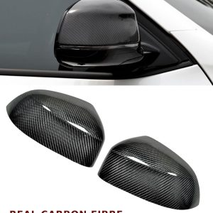 BMW X3 X4 X5 F15 X6 F16 WING MIRROR COVER PAIR REAL CARBON FIBRE 2014 UP