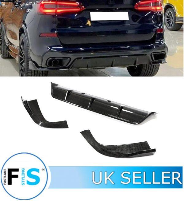 BMW X5 G05 M SPORT REAR DIFFUSER CARBON FIBRE 3 PCs