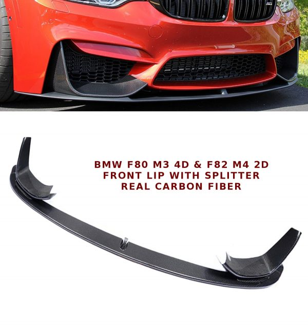 BMW F80 F82 M3 M4 CARBON FIBRE FRONT SPLITTER LIP SPOILER PERFORMANCE STYLE