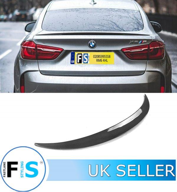 BMW X6 F16 M SPORT REAL CARBON FIBRE REAR BOOT SPOILER