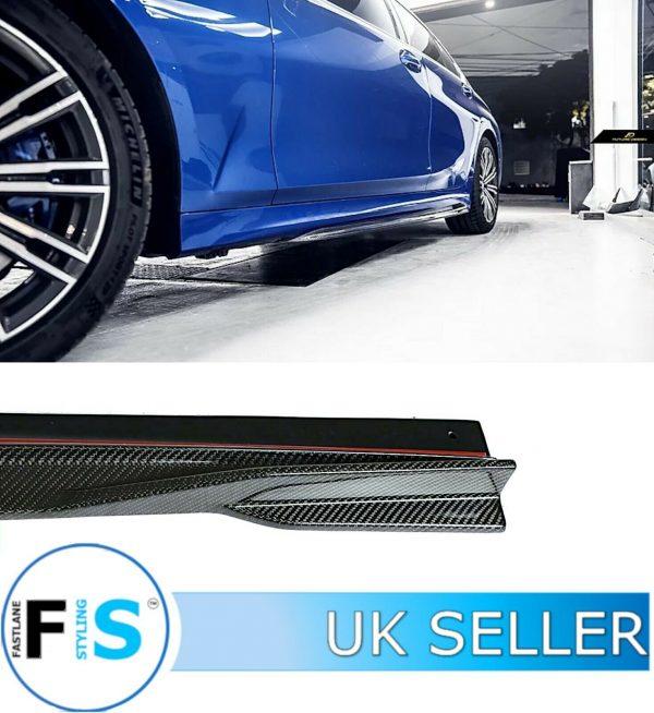 BMW 3 SERIES G20 G21 M SPORT CARBON FIBRE SIDE EXTENSION BLADES