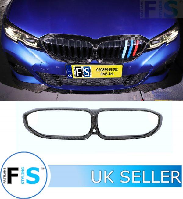 BMW 3 SERIES G20 G21 M SPORT CARBON FIBRE FRONT GRILLE FRAME COVER