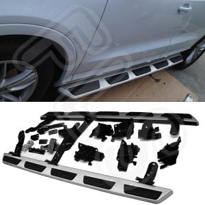 AUDI Q3 2011 UP BRUSHED STEEL SIDE STEPS BARS BOARDS 100% OEM FIT FACTORY STYLE