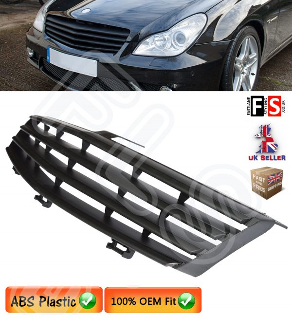 BRABUS STYLE FRONT GRILLE MERCEDES CLS CLASS W219 C219 2006-2009 BLACK GRILLE