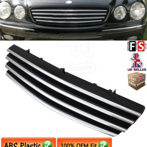 BRABUS STYLE FRONT GRILLE MERCEDES CL CLASS W215 2000-2006 CHROME BLACK GRILL