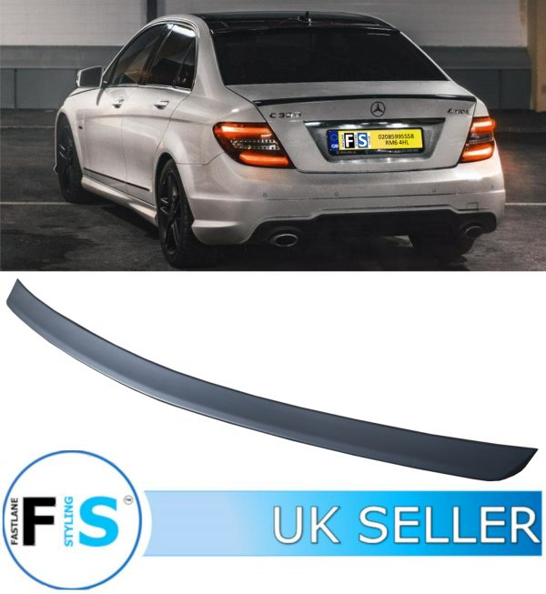 MERCEDES C CLASS W204 SALOON AMG STYLE REAR BOOT SPOILER