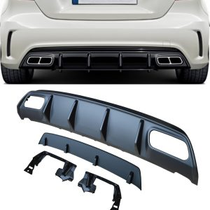 MERCEDES A CLASS A45 AMG W176 REAR DIFFUSER SPORT EDITION MATTE BLACK W/O TIPS