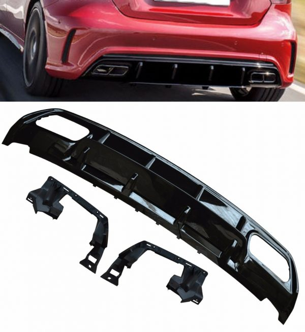 MERCEDES A CLASS W176 A45 AMG LOOK REAR DIFFUSER
