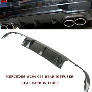 MERCEDES C-CLASS W204 C63 AMG FACELIFT 2012-15 REAR BUMPER DIFFUSER CARBON FIBER